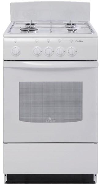 Газовая плита De Luxe 5040.38 щиток белая - фото 6769