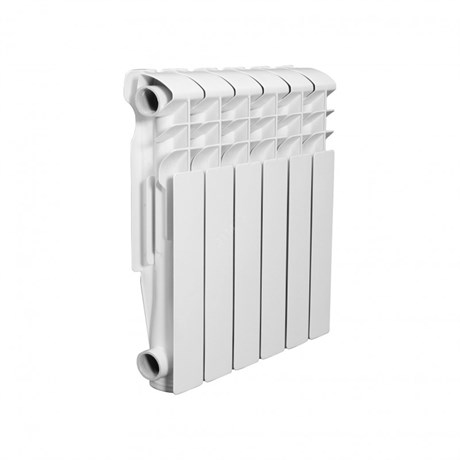 Радиатор алюминиевый AQUAPROM AL 500/80/6 секций. A21 (синий квадрат) - фото 9249