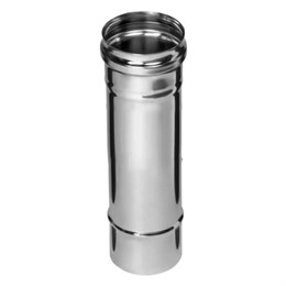 Дымоход  0,25м (430/0,5 мм)  Ф115 (уп. 4 шт)